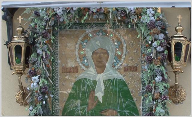 Икона святой Матроны Московской в Покровском монастыре